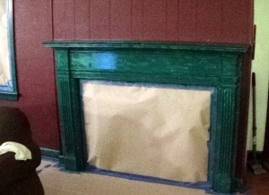 First coat of trim paint on.