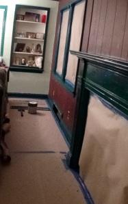 Third coat of trim paint.
