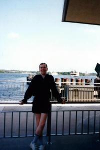 Jonathan at Disneyworld Ferry Launch -- Sept. 4, 1995.