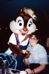 Betsy with Chip at the Garden Grill Cafe -- Sept. 5, 1995.