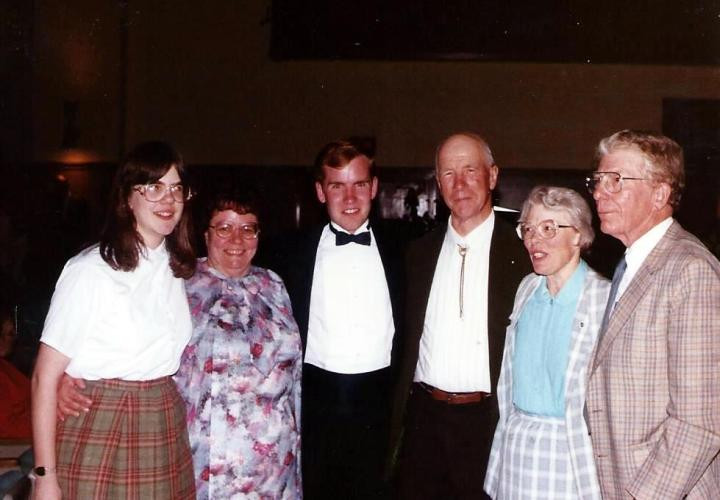 (Left to right) My sister, mother, me, father, Aunt Olive and Uncle Bill after the concert.