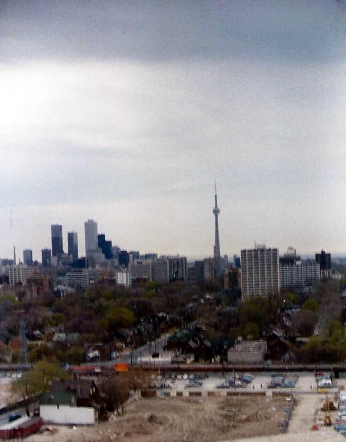 View of downtown Toronto from the museum house we visited on the north side of the city.
