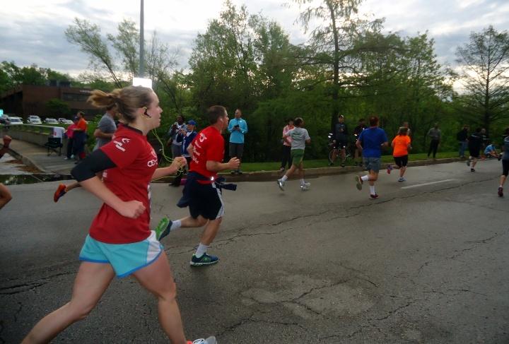 Pushing to the finish.